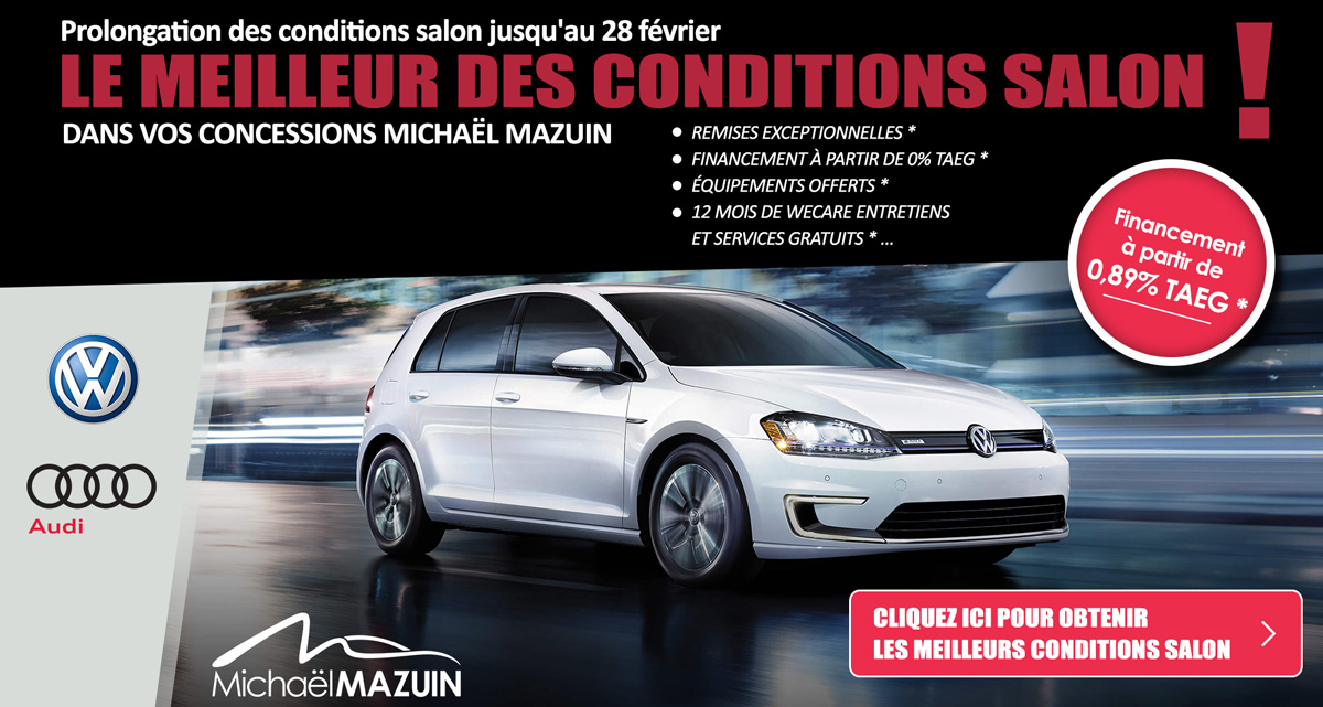 conditions salon de l auto vw et audi namur et charleroi